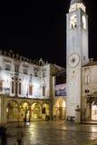 Cuadrado del reloj de Jaffa dubrovnik Croacia Imagen de archivo libre de regalías