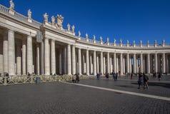 Cuadrado del ` s de San Pedro, Ciudad del Vaticano, Italia Foto de archivo