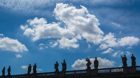 Cuadrado del ` s de San Pedro del Vaticano Foto de archivo libre de regalías