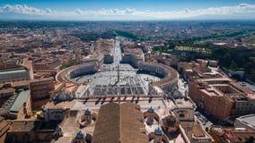 Cuadrado del ` s de San Pedro del Vaticano Imagen de archivo libre de regalías
