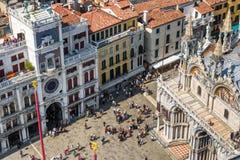 Cuadrado del ` s de St Mark en Venecia Imagen de archivo libre de regalías