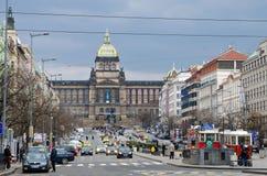 Cuadrado del St. Wenceslao, Praga Foto de archivo libre de regalías