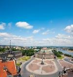 Cuadrado del teatro de la ópera y del teatro en Dresden Fotografía de archivo libre de regalías