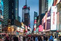 Cuadrado del tiempo de New York City Imagen de archivo libre de regalías