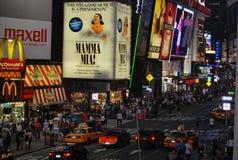 Cuadrado del tiempo en New York City Fotos de archivo