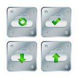 Cuadrado del tornillo del botón de la nube Imagen de archivo