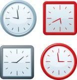 Cuadrado del vector y relojes redondos. Imágenes de archivo libres de regalías
