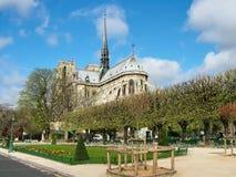 Cuadrado delante de Notre Dame de Paris Fotografía de archivo