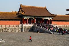 Cuadrado dentro de la ciudad Prohibida durante el Año Nuevo chino, Pekín, China Fotografía de archivo libre de regalías