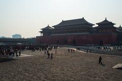 Cuadrado dentro de la ciudad Prohibida durante el Año Nuevo chino, Pekín, China Fotos de archivo libres de regalías