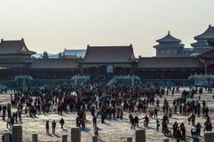 Cuadrado dentro de la ciudad Prohibida durante el Año Nuevo chino, Pekín, China Fotografía de archivo
