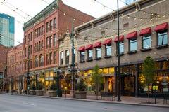 Cuadrado Denver Colorado céntrico de Larimer fotos de archivo
