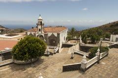 Cuadrado e iglesia de Valverde Foto de archivo libre de regalías