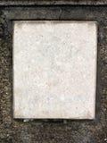 Cuadrado en blanco del mármol Fotos de archivo libres de regalías