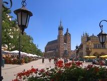 Cuadrado en Kraków, Polonia Foto de archivo libre de regalías