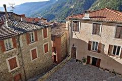 Cuadrado en la ciudad vieja en Francia Fotos de archivo libres de regalías