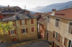 Cuadrado en la ciudad vieja en Francia Imagen de archivo