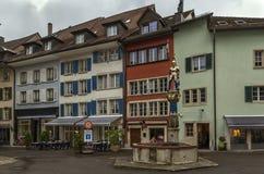 Cuadrado en Lenzburg, Suiza Fotos de archivo