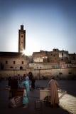 Cuadrado en Medina de Fes, Marocco Imagen de archivo