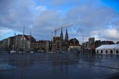 Cuadrado en Ostende Foto de archivo libre de regalías