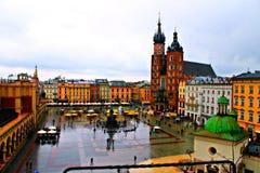 Cuadrado en Polonia Fotografía de archivo libre de regalías