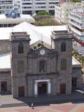 Cuadrado en Port-Louis, Mauricio de la catedral Fotos de archivo libres de regalías