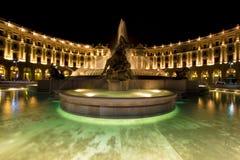 Cuadrado en Roma Fotos de archivo libres de regalías