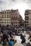 Cuadrado en Roma Imagen de archivo libre de regalías