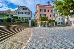 Cuadrado en Zurich foto de archivo