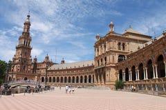 Cuadrado español en Sevilla fotografía de archivo libre de regalías