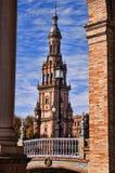 Cuadrado español en Sevilla, España Foto de archivo libre de regalías