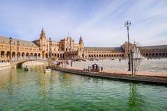 Cuadrado español - Sevilla Fotografía de archivo libre de regalías