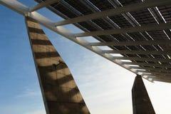 Cuadrado fotovoltaico del foro Imagen de archivo