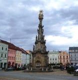 Cuadrado histórico con la estatua Fotos de archivo libres de regalías