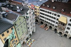 Cuadrado histórico de Innsbruck Imagen de archivo