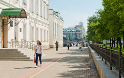 Cuadrado histórico en el centro de Ekaterimburgo Foto de archivo