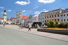 Cuadrado histórico principal en Banska Bystrica Eslovaquia Fotografía de archivo