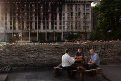 Cuadrado independiente (Maidan) en Kyiv, Ucrania Imagen de archivo libre de regalías