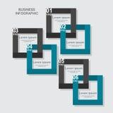Cuadrado infographic del negocio en diseño plano Disposición para sus opciones o pasos ilustración del vector