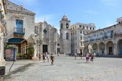Cuadrado La Habana de Cathederal Foto de archivo libre de regalías