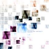 Cuadrado moderno abstracto digital tecnológico geométrico dispersado Imagen de archivo