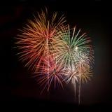Cuadrado multicolor de los fuegos artificiales Fotografía de archivo libre de regalías