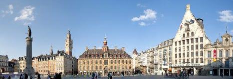 Cuadrado principal de Lille, Francia Fotografía de archivo libre de regalías