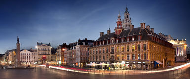 Cuadrado principal de Lille, Francia imágenes de archivo libres de regalías