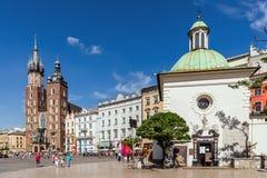 Cuadrado principal en Kraków Fotografía de archivo