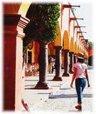 Cuadrado principal en Tequisquiapan, México Fotos de archivo libres de regalías
