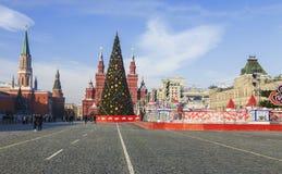 Cuadrado rojo durante día soleado de las celebraciones del Año Nuevo Imágenes de archivo libres de regalías