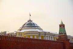 Cuadrado rojo El Kremlin moscú imagen de archivo