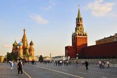 Cuadrado rojo en Moscú fotos de archivo