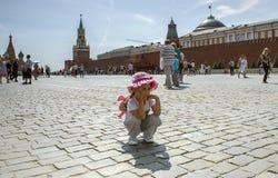 Cuadrado rojo Moscú imagenes de archivo